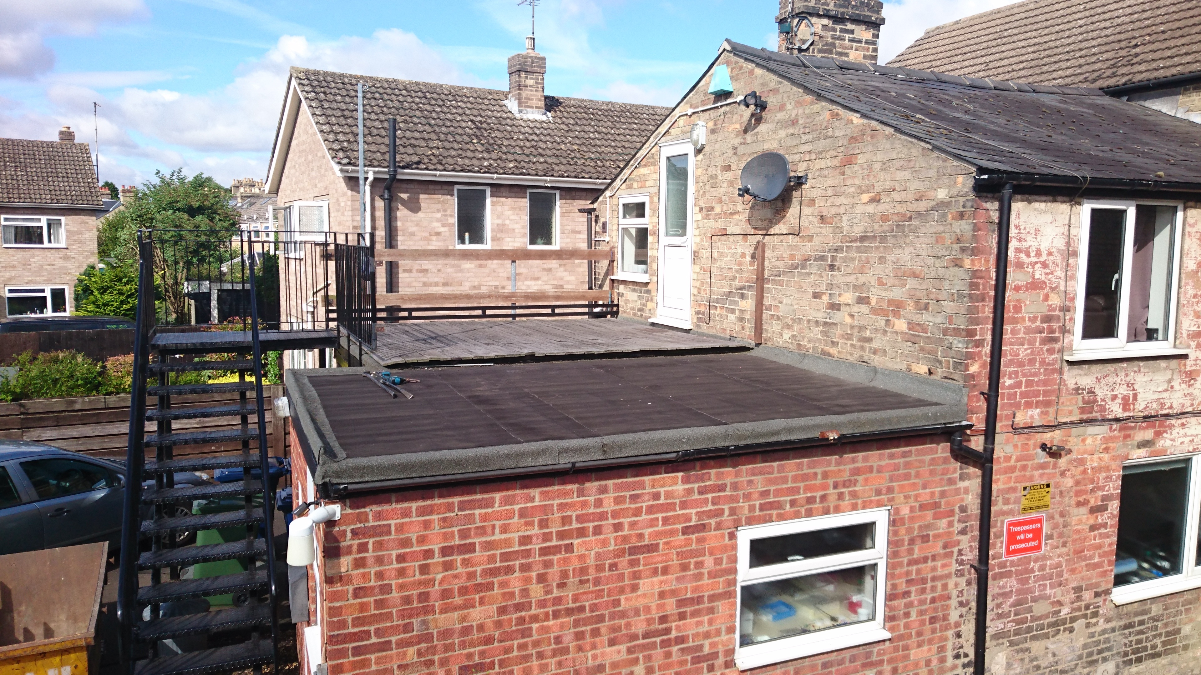 Fibreglass Roof Replacement In Cambridge Grp Roofing